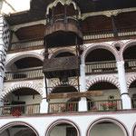 detalle de las plantas de celdas monacales del reciento del Monasterio de Rila