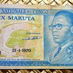 Congo 10 makutas 1970 anverso