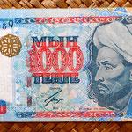Kazajistan 1000 tenges 2000 (144x68mm) anverso