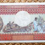 Gabón 500 francos 1974 reverso