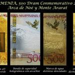 Armenia 500 dram 2017 Conmemorativo Arca de Noé seguridades