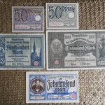 Danzig serie pfenning-marks 1919-1923 anversos