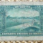 Brasil 10000 reis 1942 resello 10 cruzeiros  reverso