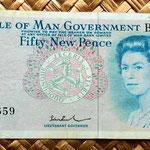 Isla de Man 50 new pence 1979 anverso