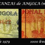Angola, 1ª serie de kwanzas 1976-1979 marcas de agua