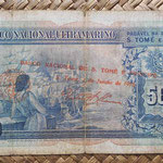 Santo Tomé y Príncipe 500 escudos 1958 sobreimpreso 1976 pk.47 reverso