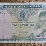 Zambia 2 kwachas 1968 (135x70mm) pk.6c anverso
