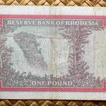 Rhodesia 1 pound 1968 reverso