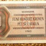 Bohemia y Moravia 500 coronas 1942 reverso