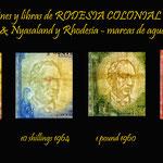 Rodesia colonial británica marcas de agua -Cecil Rhodes