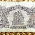 Colombia 20 pesos oro 1965 reverso