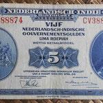 Indias Holandesas 5 gulden 1943 anverso