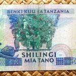 Tanzania 500 shilingi 1989 reverso