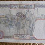 Argelia 5 francos 1941 (128x88mm) pk.77b reverso