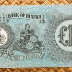 Biafra 10 pounds 1968 reverso