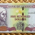 Jamaica 500 dollar 2008 anverso