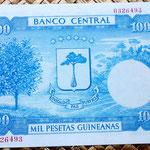 Guinea Ecuatorial 1000 pesetas 1969 reverso