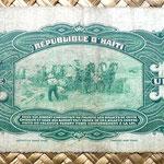 Haiti 1 gourde 1914 resello 1916 reverso