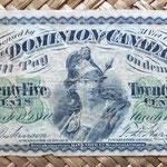 Dominio de Canadá 25 centavos 1870 anverso