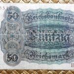 Alemania 50 reichsmark 1924 reverso