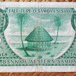 Western Samoa 1 tala 1967 reverso