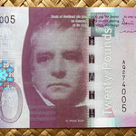 Escocia 20 pounds sterling -Bank Of Scotland 2007 (150x80mm) anverso