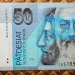 Eslovaquia 50 korun 1999 anverso