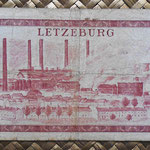 Luxemburgo 100 francos 1956 (148x78mm) pk.50a reverso