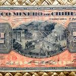 México, 2 pesos 1914 Banco Minero - Chihuahua (178x80mm) anverso