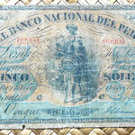 Perú 5 soles 1877 anverso