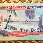 Islas Cayman 10 dollar 2005 reverso