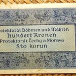 Bohemia y Moravia 100 coronas 1940 reverso