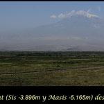 Montes Ararat desde Armenia