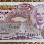 Malawi 1 kwacha 1988 (134x74mm) pk.19b anverso