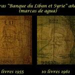 Libano libras 1948-1964 marcas de agua