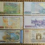 Armenia 1ª serie Dram s.XXI -2001-2012 reversos