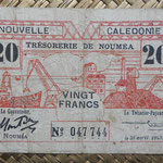 Nueva Caledonia 20 francos 1943 Bono -Tesoro de Noumea (114x70mm) pk.57a anverso