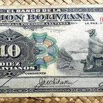 Bolivia 10 bolivianos 1911 anverso