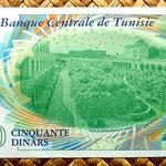 Tunez 50 dinares 2011 reverso