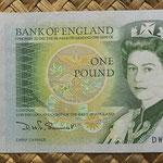 Reino Unido 1 pound 1981-84 (135x67mm) pk.377b anverso