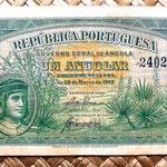 Angola colonial portuguesa 1 angolar 1942 anverso