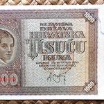 Croacia 1000 kunas 1941 (170x90mm) anverso