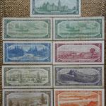 Canada serie Dollars 1954 Queen Elizabeth II reversos