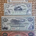 Argentina Pesos Bolivianos Banco Oxandaburu y Garbino 1869 anversos