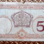 Nuevas Hébridas 5 francos 1941 pk. 4b reverso