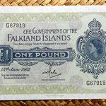 Islas Malvinas 1 libra 1982 anverso