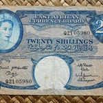British East Africa 20 shilling 1961 anverso (150x88mm) pk.43a