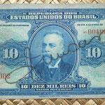 Brasil 10000 reis 1942 resello 10 cruzeiros  anverso