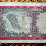 Rodesia 1 pound 1968 reverso
