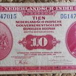 Indias Holandesas 10 gulden 1943 anverso